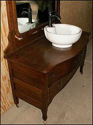 Old Dresser W Vessel Sink Our Next Project For The Home