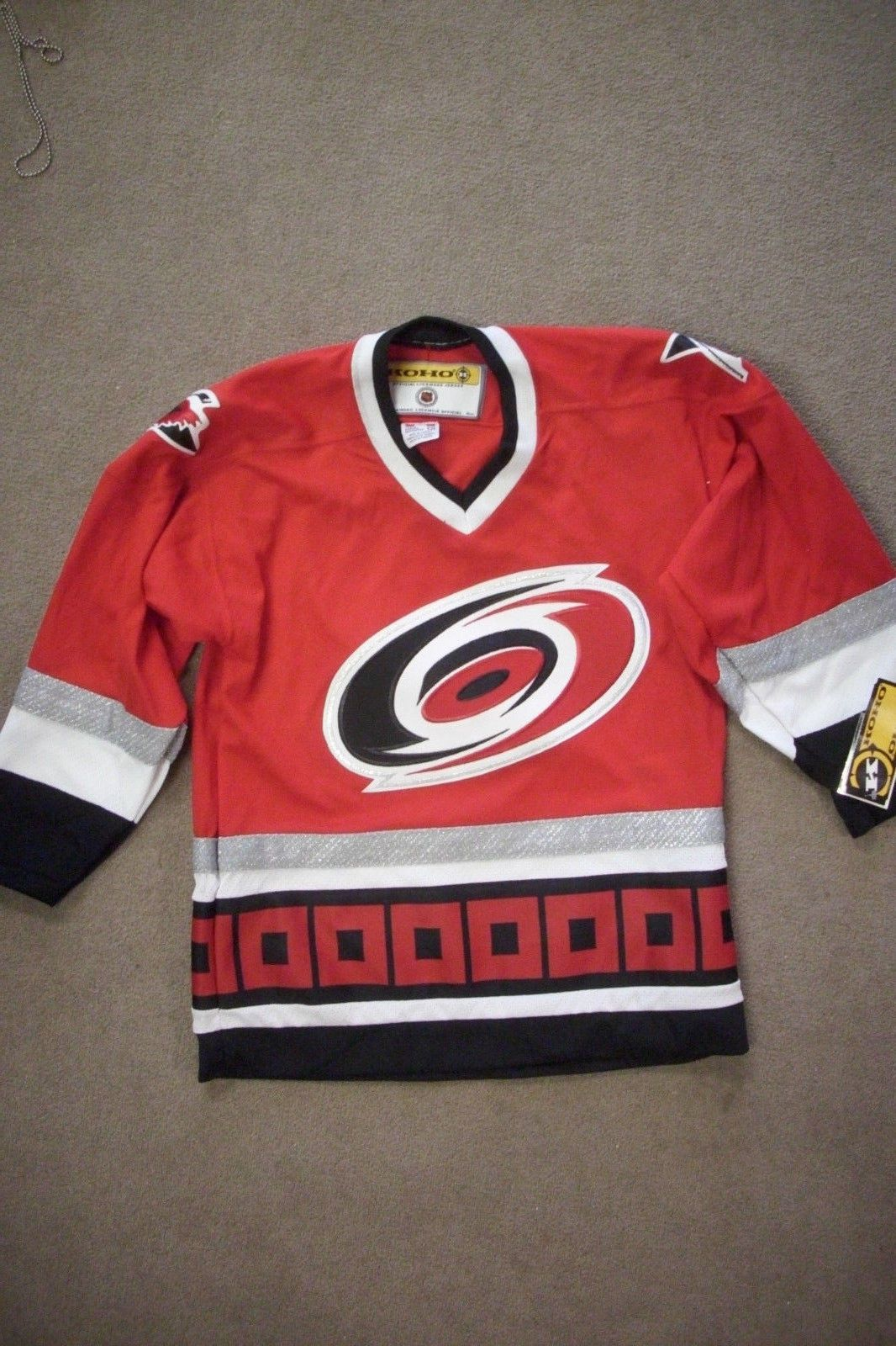 NEW WITH TAGS! Vintage CAROLINA HURRICANES KOHO HOCKEY JERSEY Youth L XL be89a3c95