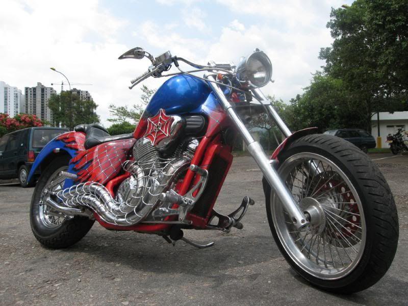 Spiderman honda shadow cruiser motorbike - Spider man moto ...
