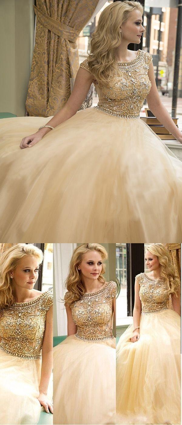 Sexy prom dresses aline floorlength rhinestone prom dressevening