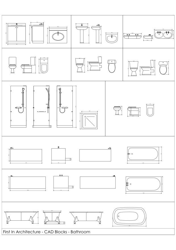 Free Cad Blocks Bathroom 01 Section Cad Blocks Interior