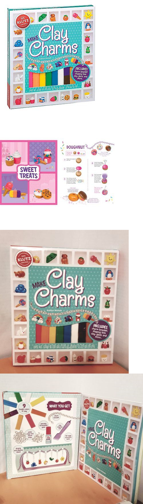 Craft Kits 116655 Make Glitter Clay Charms With 35 New Designs