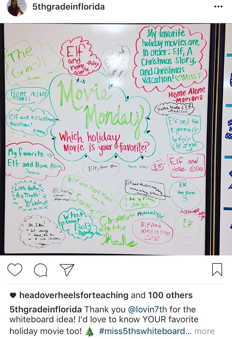 Monday Whiteboard messages, Daily writing prompts