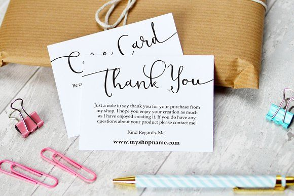 Business Thank You Card Template Business Thank You & Care Cards  Business Card Templates And Template