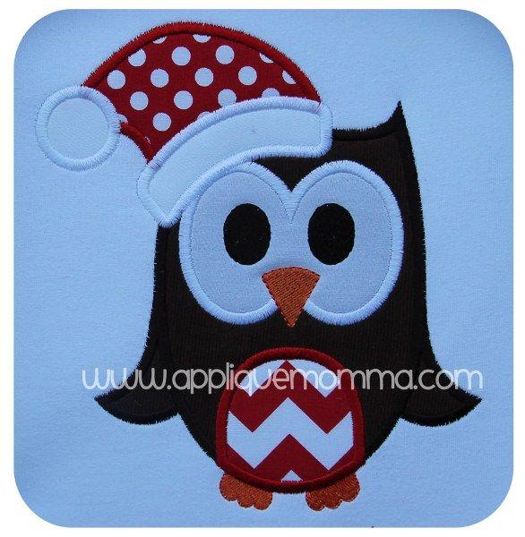 Christmas Owl2 Applique Design