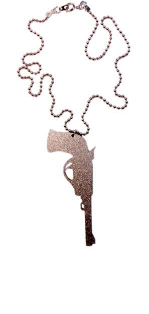 Pistol Necklace - Clearance $3.50!