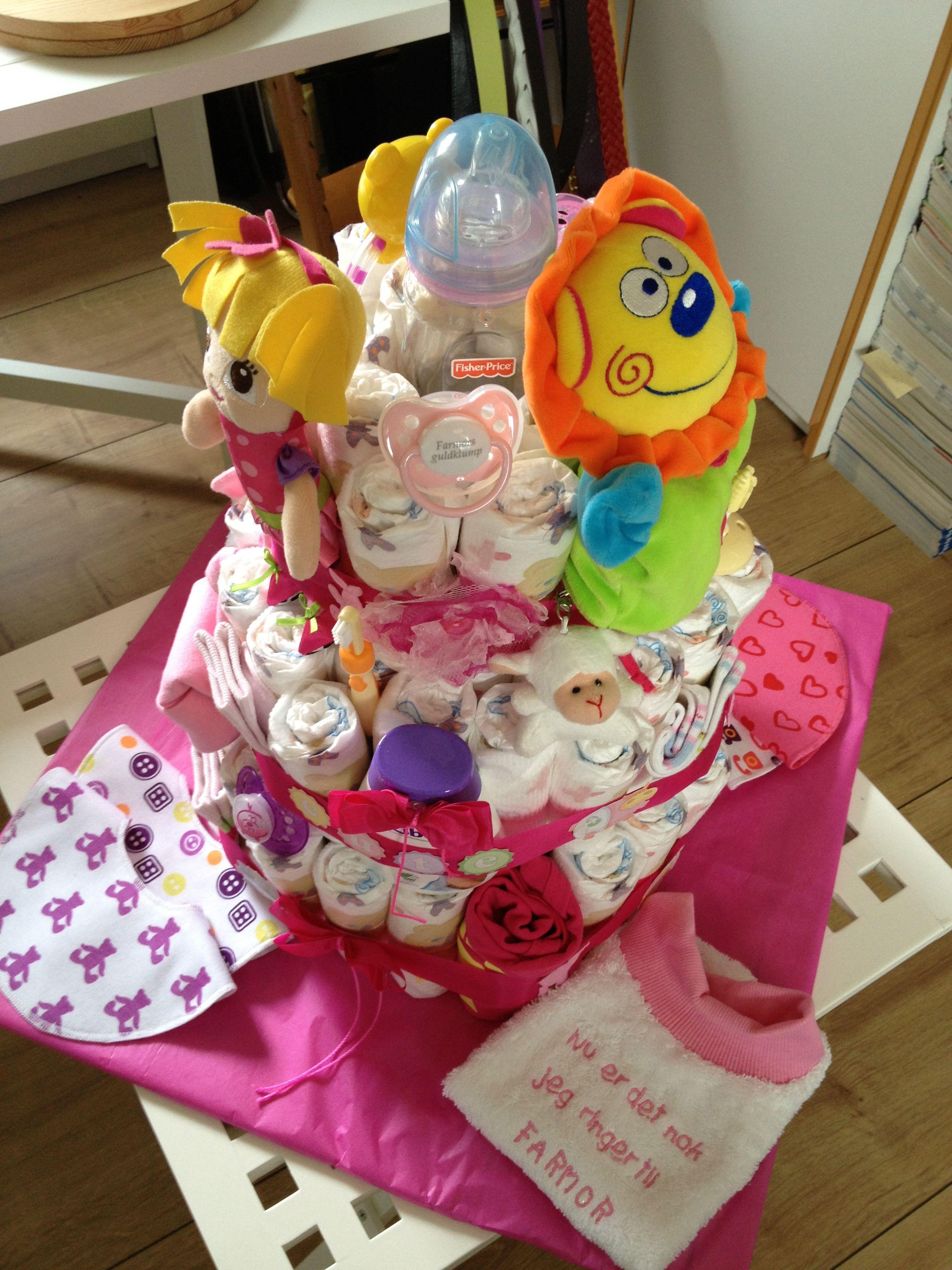 Diaper cake - ble kage  til mit dejlige barnebarn