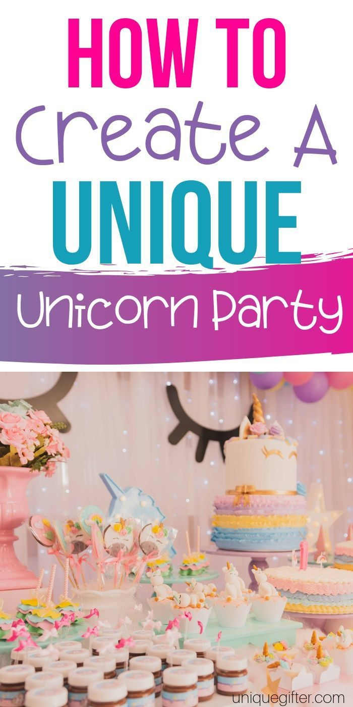 How to Create a Unique Unicorn Party - Unicorn party, Party planning, Fun party themes, Milestone birthday gifts, Party, Party themes - Learn How to Create a Unique Unicorn Party that will impress all the kids and adults alike  Everyone will be smiling like crazy and sure to have a blast
