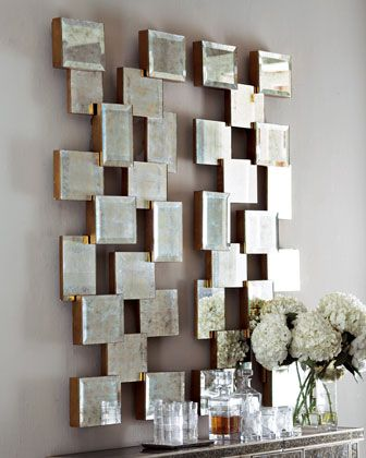 John Richard Collection Each Mirrored Wall Decor Wall Decor Decor Mirror Wall Decor