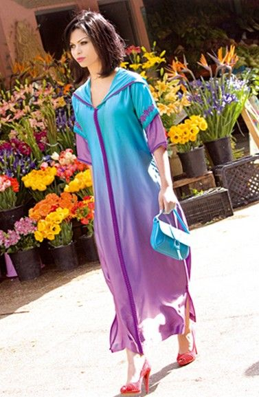 Collection djellaba marocaine défilé mode djellaba femme pour été