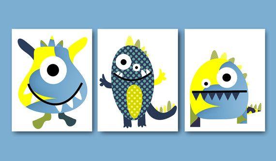 Monster Nursery Download Baby Boy Nursery Print by nataeradownload