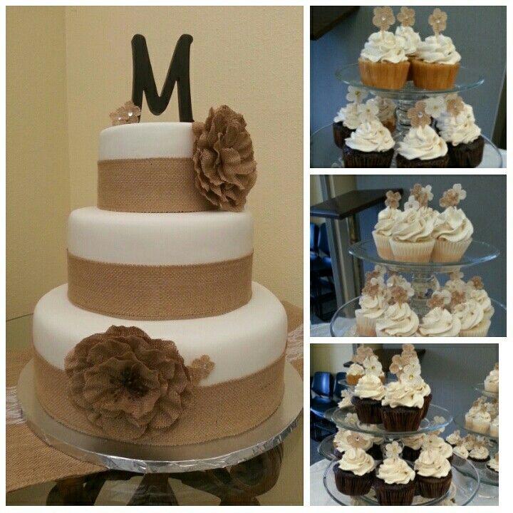Burlap wedding cake | Burlap wedding cake
