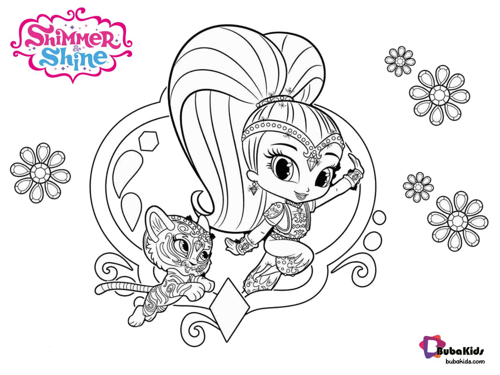 Shimmer And Shine Free Coloring Sheet Collection Of Cartoon Coloring Pages For Teenage Printable T Free Coloring Sheets Cartoon Coloring Pages Coloring Sheets