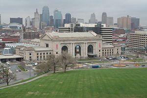 Union Station Kansas City Mo Taken From The Liberty Memorial