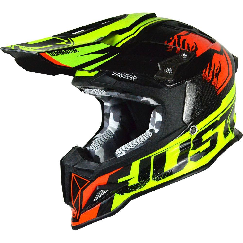 Just1 2019 J12 Dominator Lime Red Helmet Helmet Motocross Helmets Helmet Design