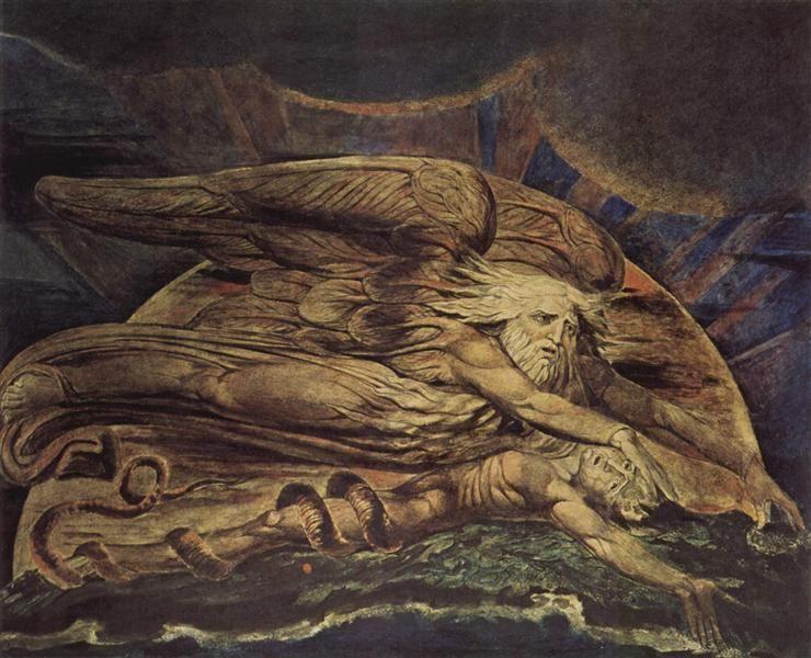 And Elohim Created Adam 1795 By William Blake Symbolism Religious