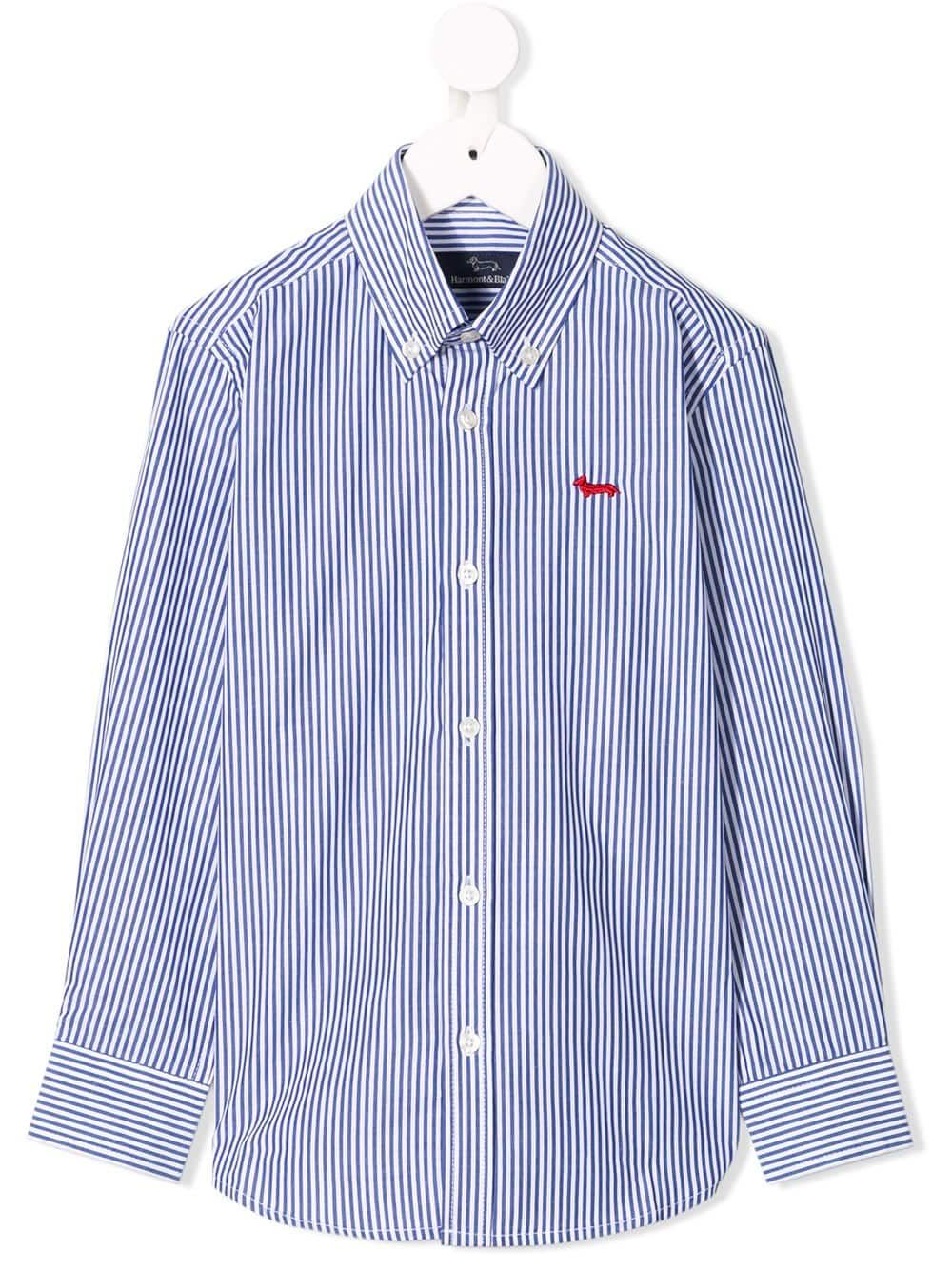 Harmont & Blaine Junior striped shirt - Blue   Striped shirt, Blue striped  shirt, Ralph lauren kids