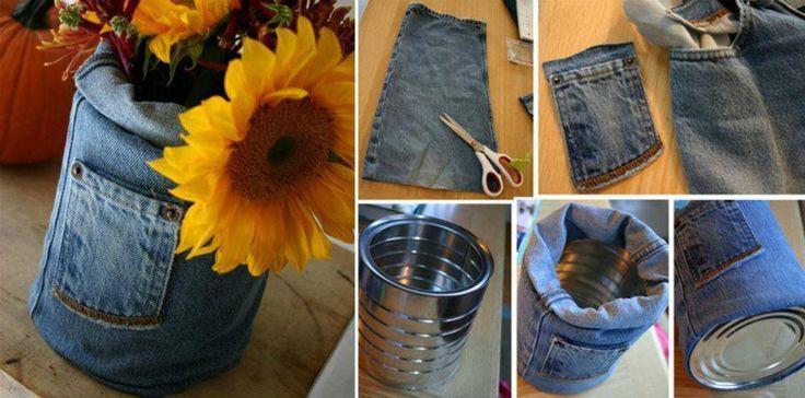 Quem não tem em casa aquele jeans usado que nem serve mais em você ou que você já enjoou da cara dele? Pois é, pensando nisso, trouxemos 21 ideias bem criativas de reutilizar seu Jeans,