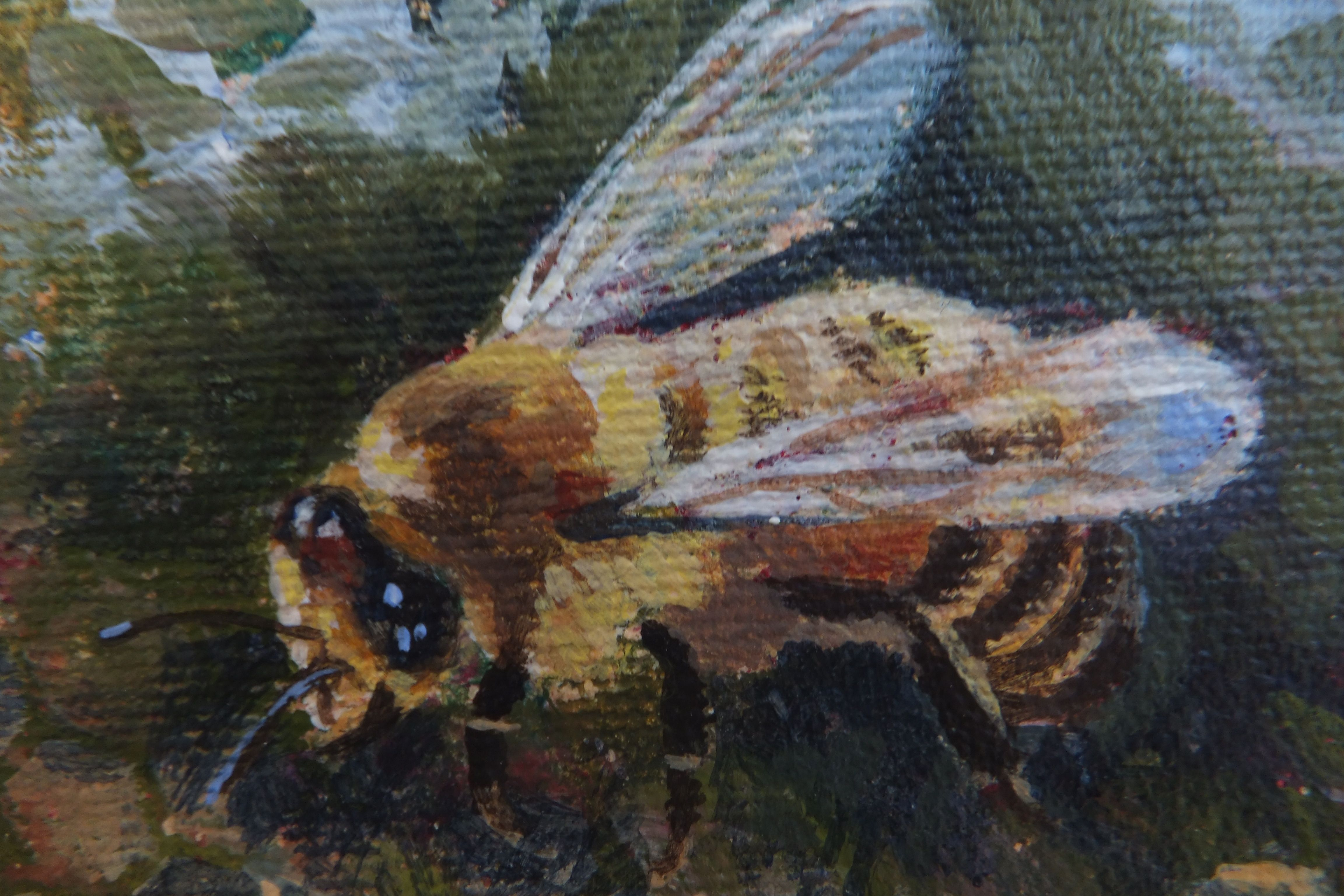 Bee in acrylic by friend Wendy Orr for the bee show at Gallery 96 in Stratford.