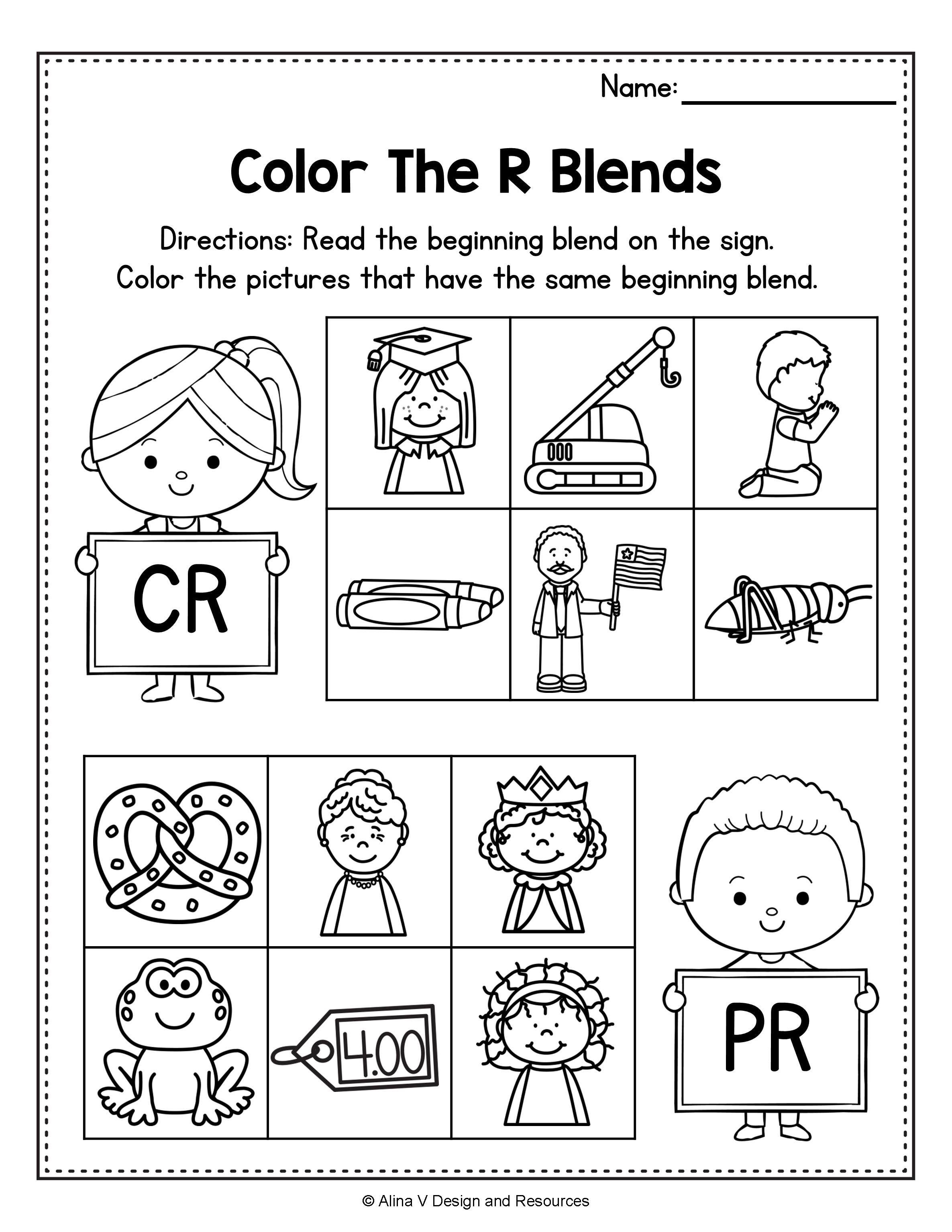 Beginning Blends Worksheets Bundle Consonant Blends Blends Worksheets Kindergarten Worksheets Consonant Blends Activities [ 3069 x 2371 Pixel ]