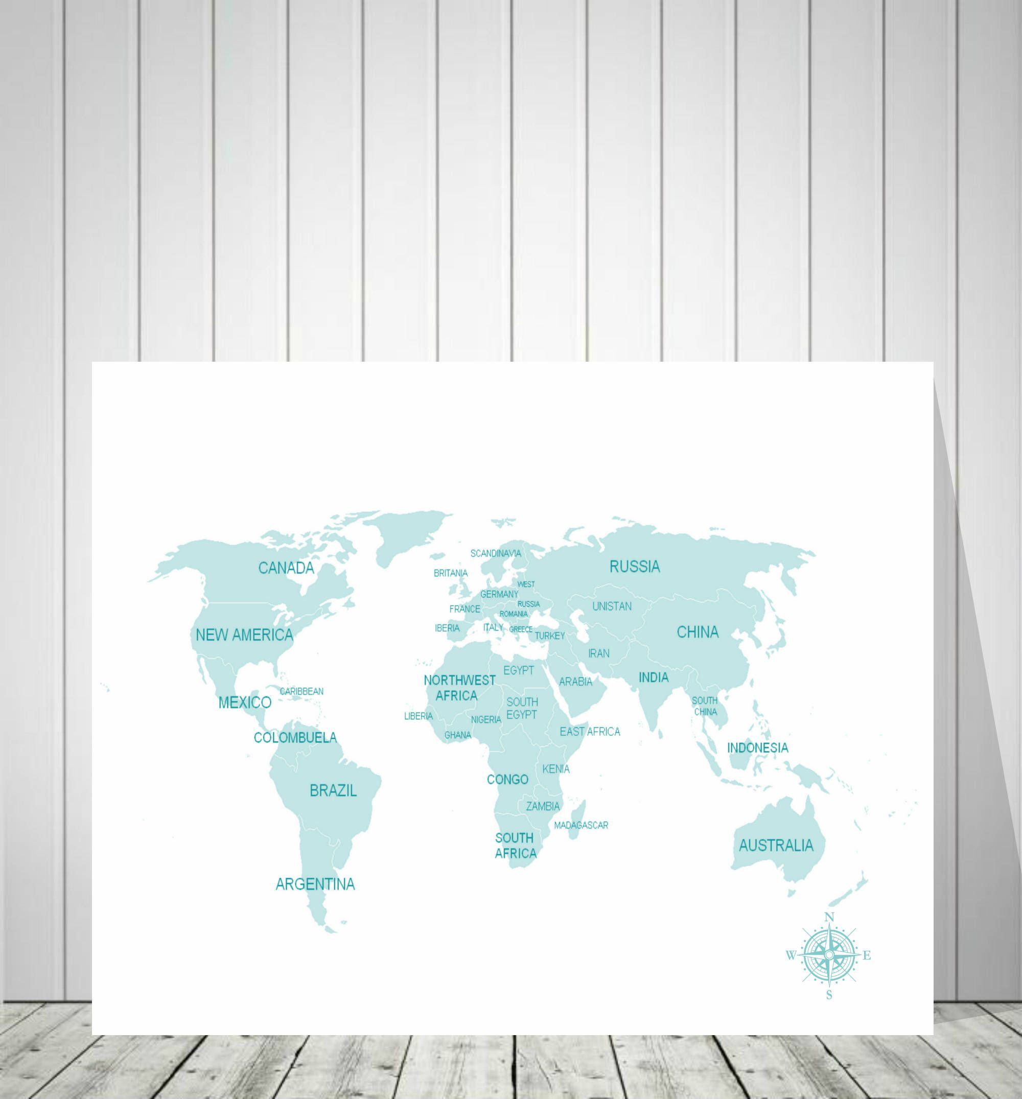 World map guest book travel map canvas wedding world map push world map wall art travel map canvas customizable world map personalized map gumiabroncs Image collections