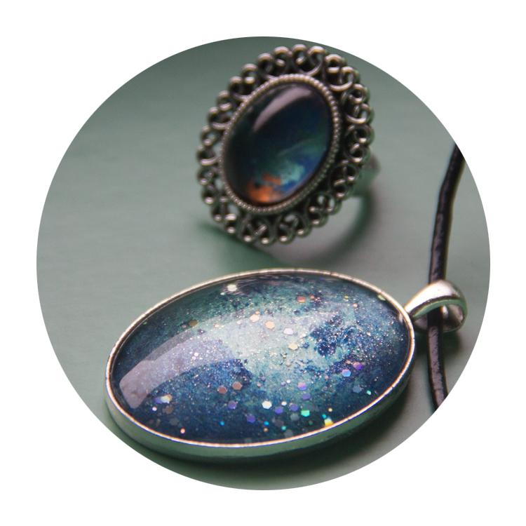 """Coral Sea"" | Elubium | Galaxy Jewelry | Online Store | Low Cost | Handmade | Craft"
