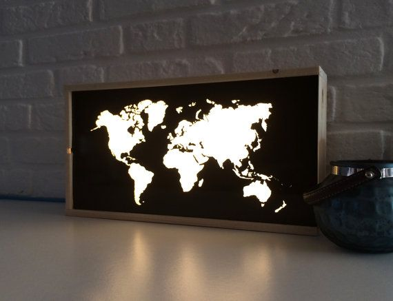 Welt karte leuchtkasten globus licht box beleuchtete deko world map light box globe light box lighted world map gift for traveler worldmap lightbox lighted sign lamp map decor gumiabroncs Choice Image