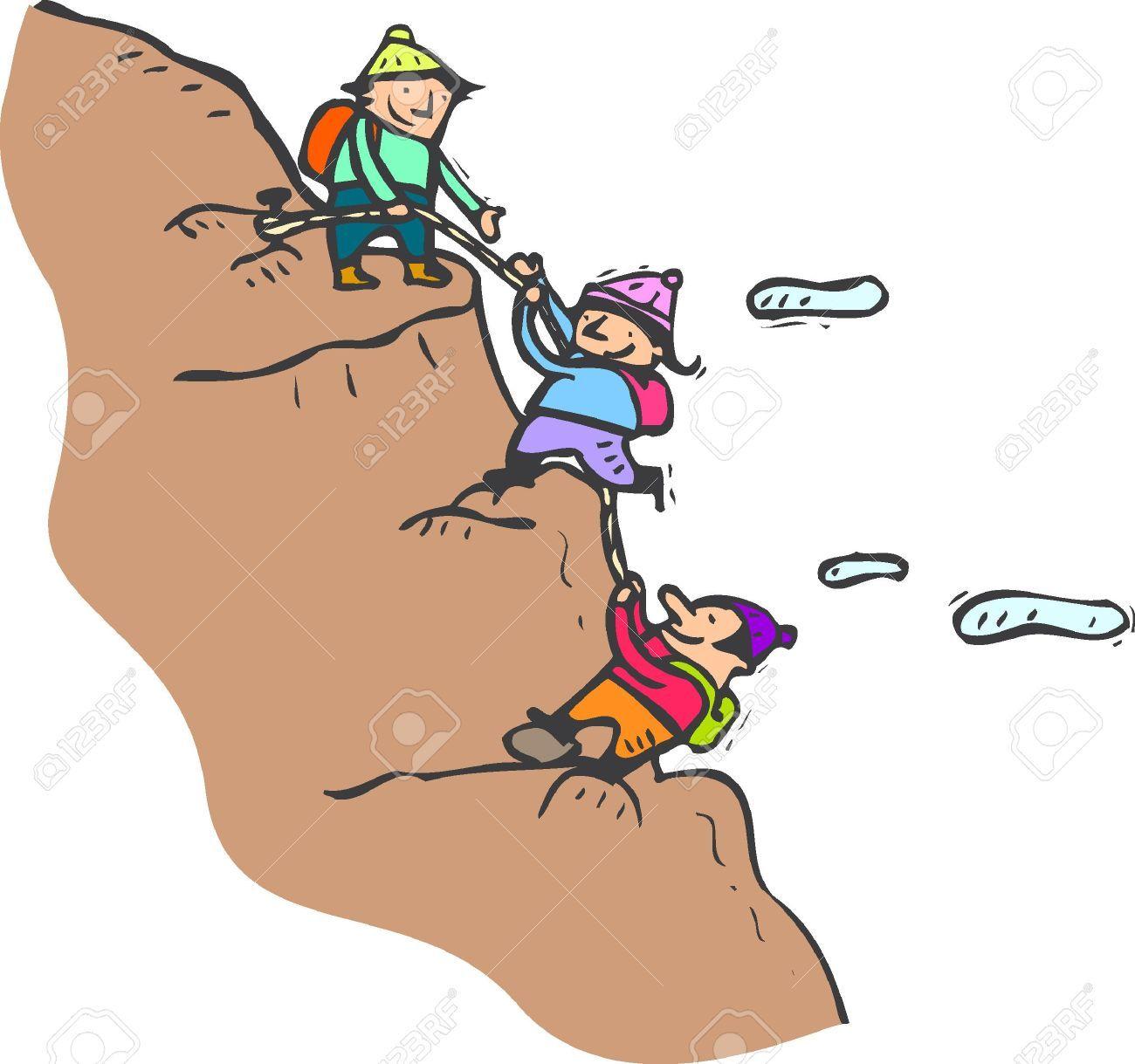 Cartoon Climbing Mountain Clip Art