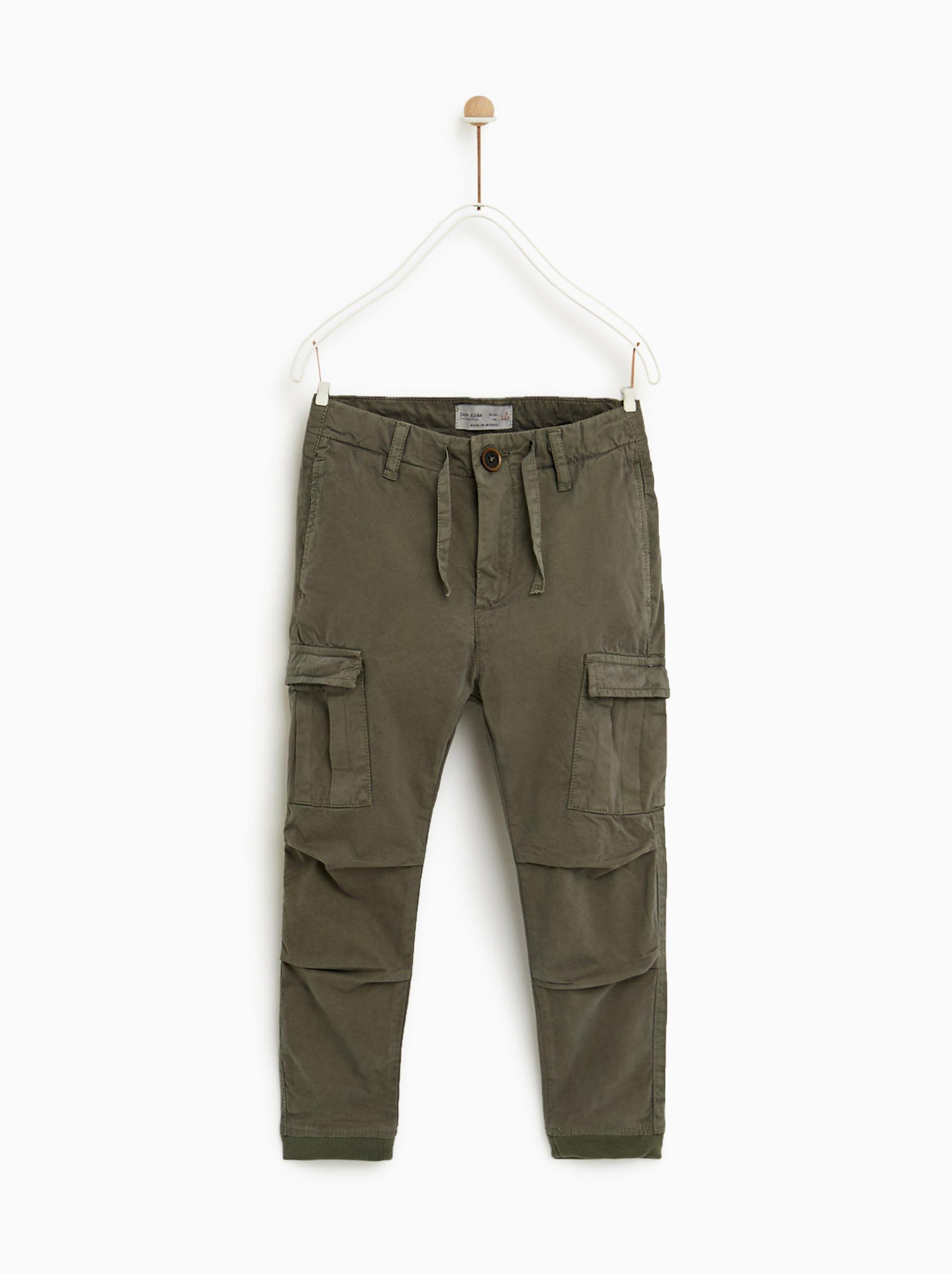 Image 1 Of Cargo Trousers From Zara Pantalones Para Ninos Pantalones Cargo Jeans Para Hombre