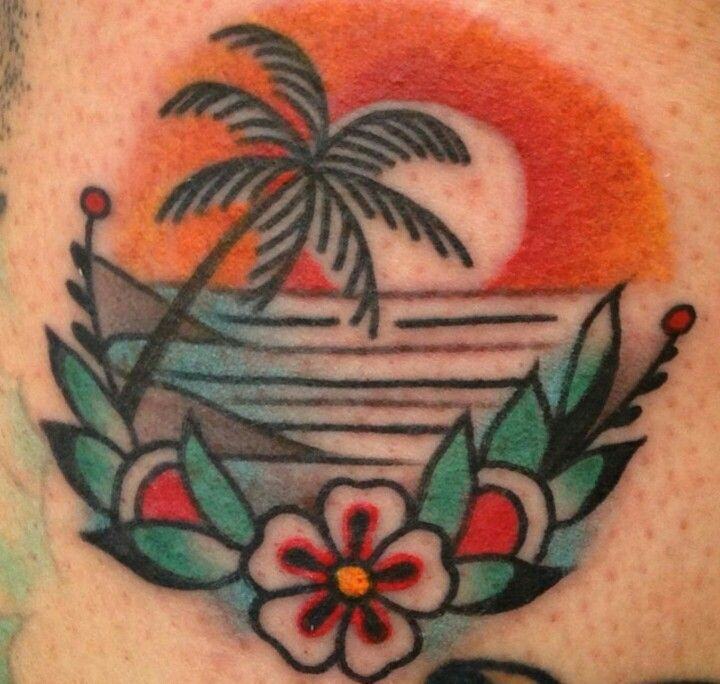 sunsets and flowers tattoos pinterest sunset tattoo and tatting