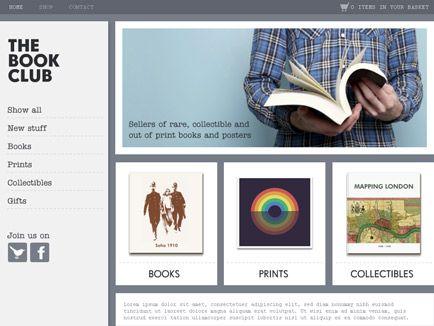 Moonfruit Template Book Club Website Design Web Creation The Book Club Book Club