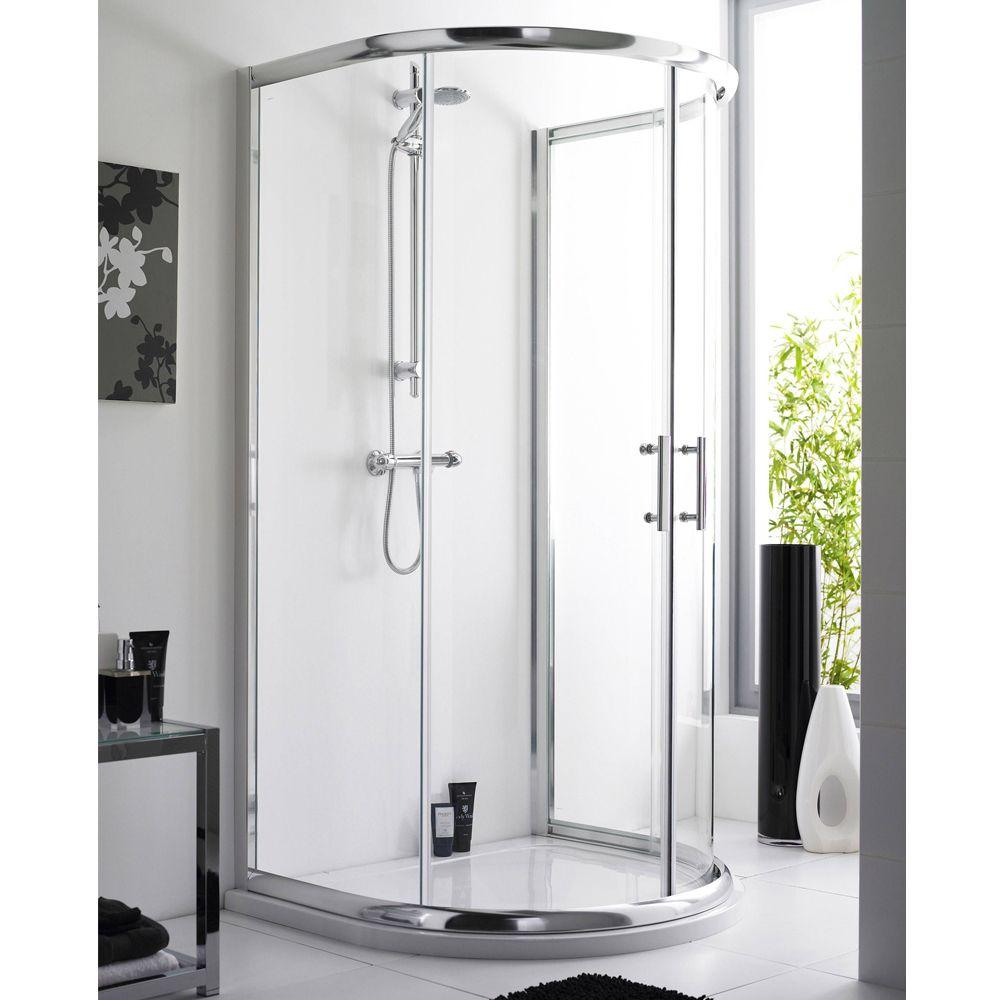 Pacific D-Shape Shower Enclosure Inc. Shower Tray + Waste | Shower ...