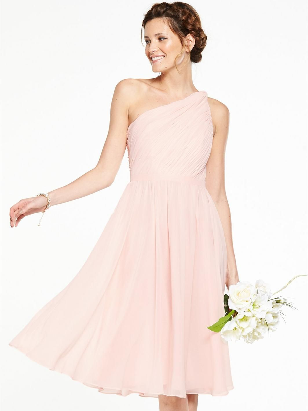 Littlewoods dresses for weddings  V by Very Bridesmaids One Shoulder Prom Dress