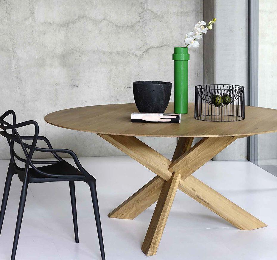 ronde tafel ethnicraft eik ethnicraft pinterest interiors dining area and tables. Black Bedroom Furniture Sets. Home Design Ideas