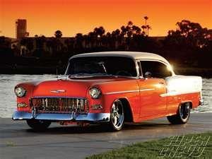 1955 Chevy Bel Air Hardtop In Orange White The Neighbor Kid