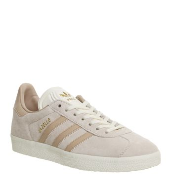 Adidas Gazelle Trainers Linen Dust Pearl Cream Exclusive - Hers Exclusives