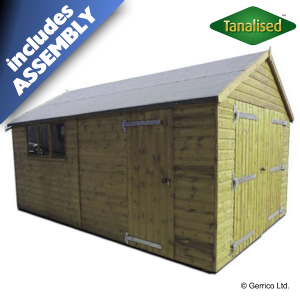 Best Tanalised® Heavy Apex Garage Assembled In 2019 Garage 400 x 300