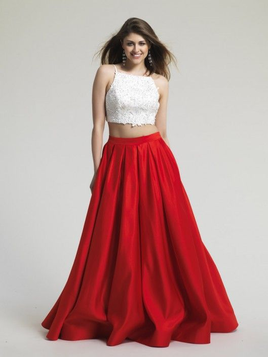 SOLD**Size 10 Red- Style 1435 from Dave and Johnny is a two piece ...