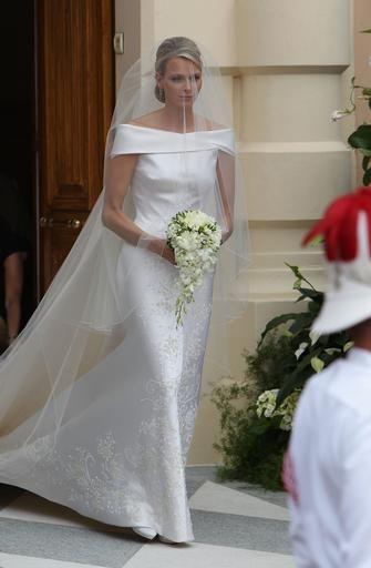 Charlene of Monaco royal wedding gown