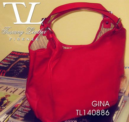 Gina in Red...your Leather Hobo #Bag on #SALE.  #tuscanyleather