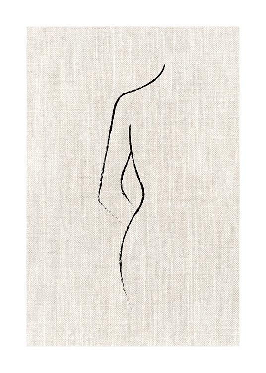 Texture Line Curve Poster #abstraktezeichnungen