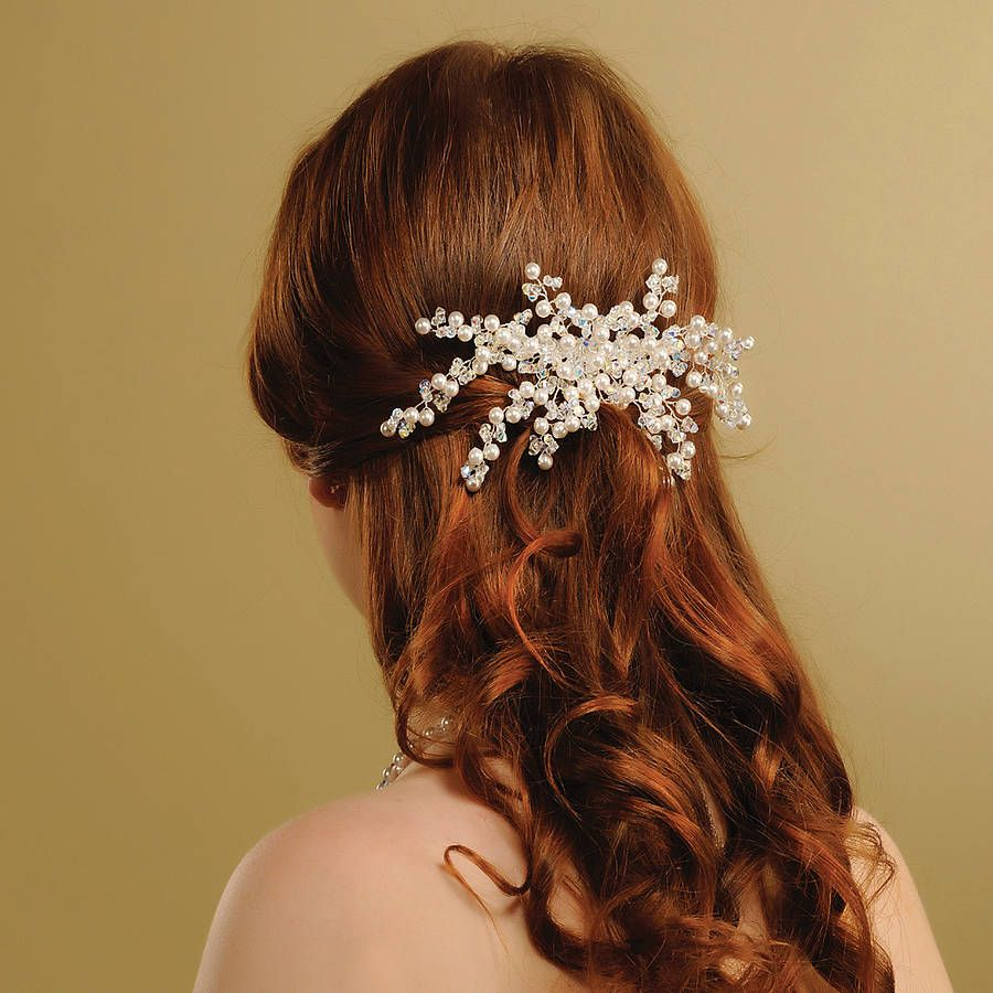 handmade lily wedding hair comb | mariage, the o'jays and wedding