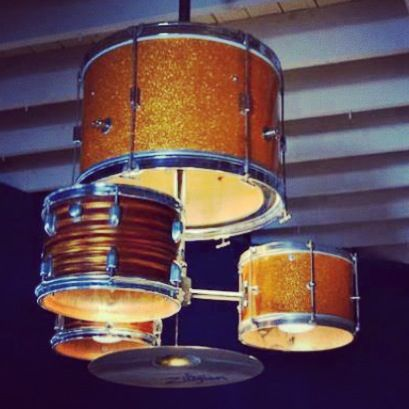 Light Shade From Old Drum Kit Home Decor That I Love Pinterest Drum K