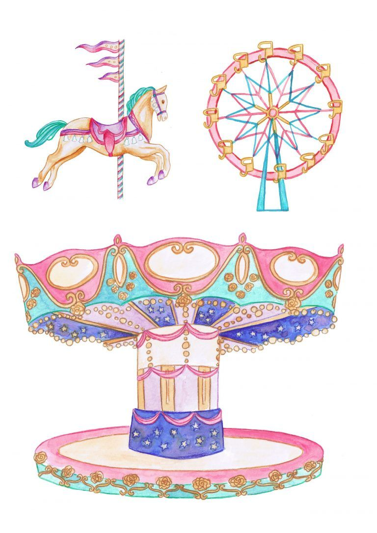 Fairground Carousel Free Printables From Papercraft Inspirations 176 Papercraft Inspirations Paper Crafts Pop Up Card Templates Carousel Party