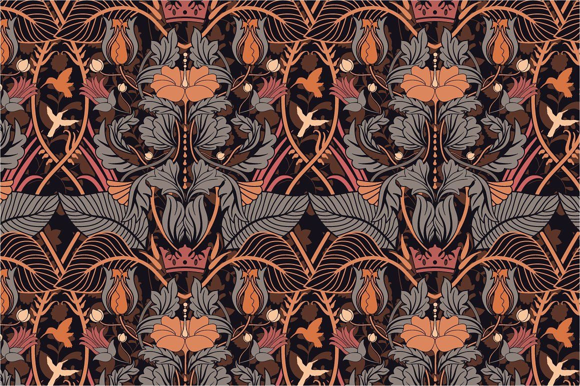 8 Modern Floral Patterns (With images) Modern floral
