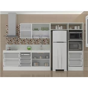 Cozinha Planejada Italinea 2063 Mdf Bp Branco E Mdp Bp Aspen