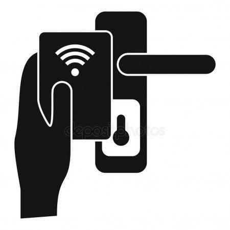 Control smart door lock icon, simple style - Stock Vector ,