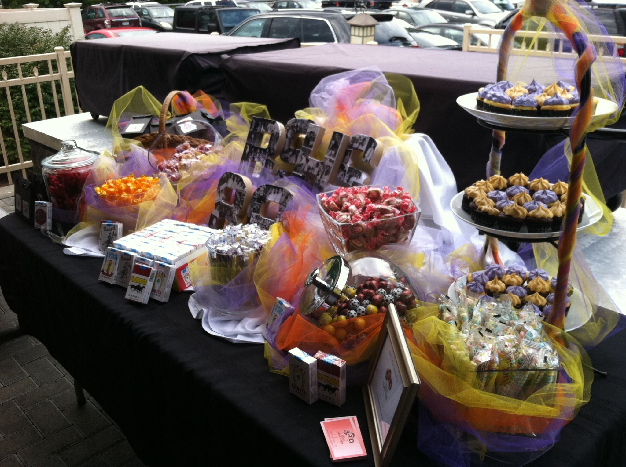 This Is A Candy Buffet We Did For A Class Reunion Village