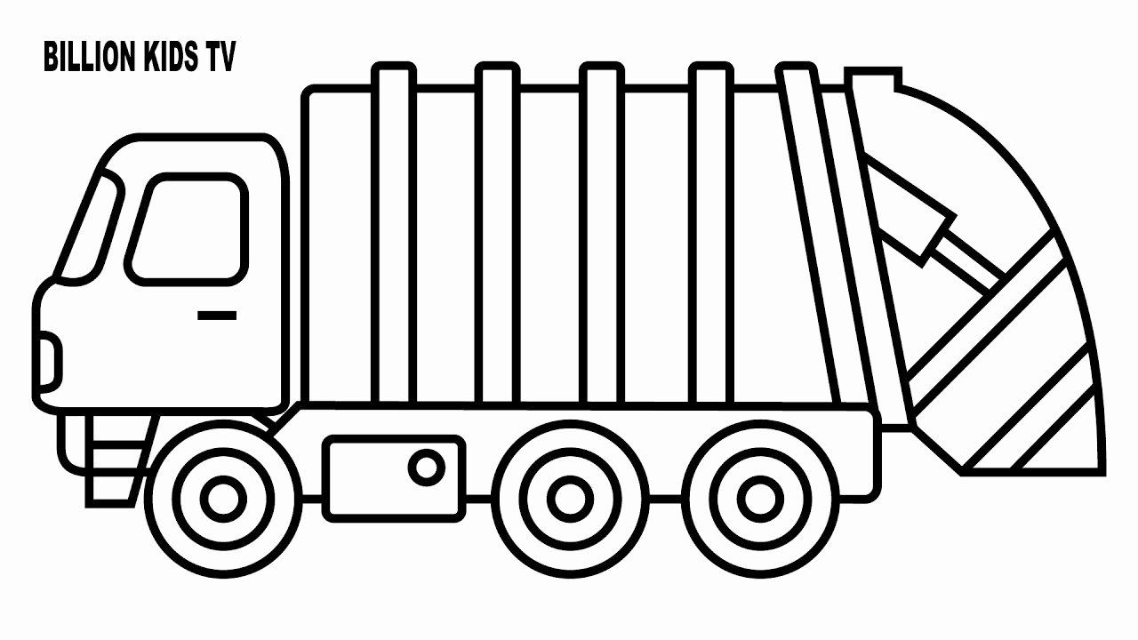 Garbage Truck Coloring Page Unique Coloring For Kids With Garbage