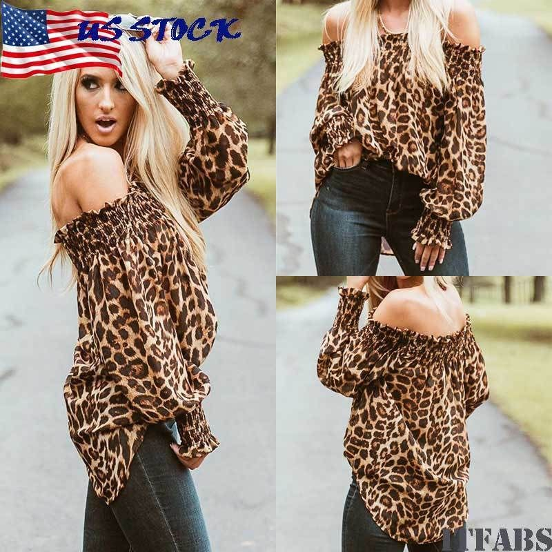 ca7f49e361233 US-DEALS Women Cotton Loose Tops Long Sleeve Sexy Off Shoulder Shirt Casual  Blouse Shirt   10.19 End Date  Wednesday Nov-7-2018…% USDeals%